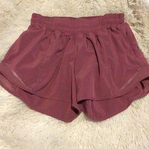 Pink lululemom Hotty Hot Shorts